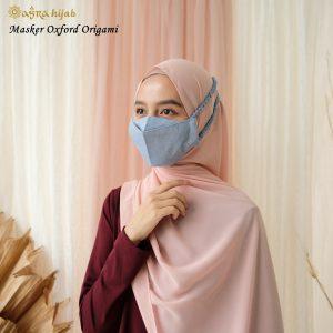 Jual Masker Hijab Bahan Oxford